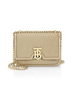 ed4ccf1c100a QUICK VIEW. Burberry. Small TB Monogram Leather Shoulder Bag