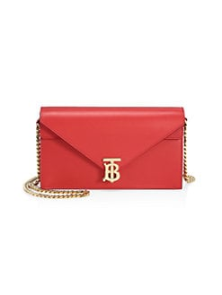 78b64623ca7a Burberry. Small TB Leather Envelope Clutch