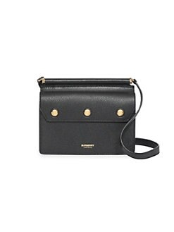 4353e890d01cd3 QUICK VIEW. Burberry. Mini Title Leather Crossbody Bag