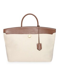 259aa23d2c2 QUICK VIEW. Burberry. Medium Society Canvas & Leather Top Handle Bag