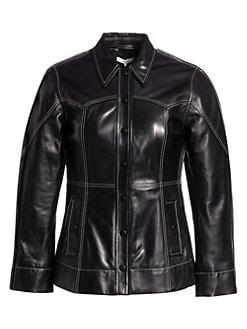 f566b88eaf821 GANNI. Lamb Leather Jacket
