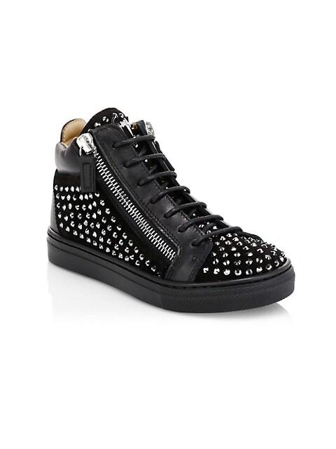 Little Girl's & Girl's Rhinestone High-Top Sneakers