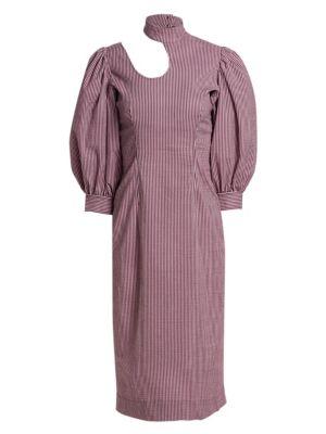 Ganni Dresses Stretchable Seersucker Dress
