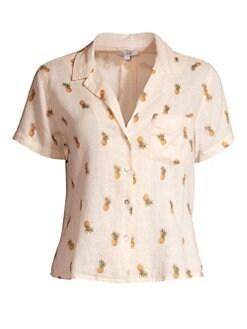 646a52d50acc14 QUICK VIEW. Rails. Zuma Pineapple Silk-Blend Short-Sleeve Shirt