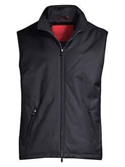 0a80d75d9 Isaia. Tech Wool Zip-Up Vest