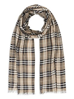 739116ebde6 QUICK VIEW. Burberry. Vintage Check Wool   Silk Scarf