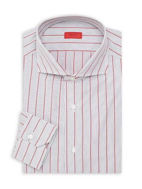 Slim-Fit Stripe Seasonal Dress Shirt