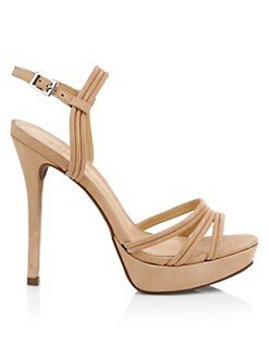 0e306e321c9 Schutz. Bogga Suede Platform Stiletto Sandals