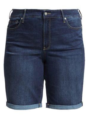 Nydj Plus Size Briella Roll Cuff Denim Shorts