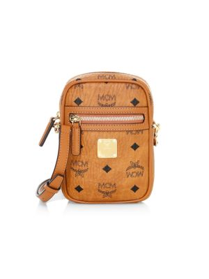 Mcm Visetos Original Small Coated Canvas Crossbody Bag