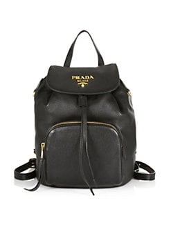 37280d9bc7015 QUICK VIEW. Prada. Daino Leather Backpack