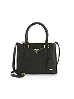 a5d3b9ae25ab2b Mini Galleria Saffiano Leather Tote Bag BLACK. QUICK VIEW. Product image.  QUICK VIEW. Prada