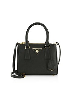 e2e2c0f8a3de Mini Galleria Saffiano Leather Tote Bag BLACK. QUICK VIEW. Product image.  QUICK VIEW. Prada