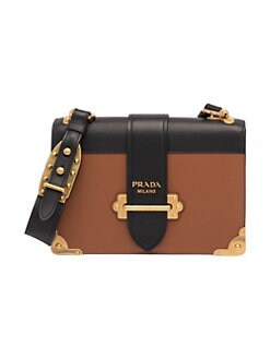862d787cc725 Prada. Large Cahier Leather Crossbody Bag