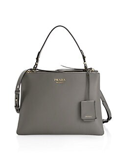 c3ea514a45adee Prada. Large Deux Leather Top Handle Tote