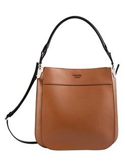 a2469ca38173 Prada. Large Margit Leather Shoulder Bag