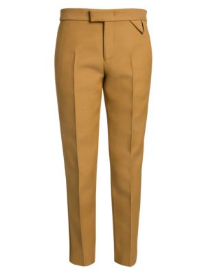Bottega Veneta Compact Dry Wool Blend Crop Tuxedo Pants