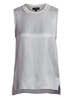 973c6c9363cf6 Rag   Bone. Ali Houndstooth Silk Shell Tank Top