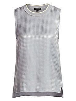 f625a685751a0 Rag   Bone - Ali Houndstooth Silk Shell Tank Top