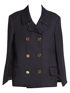 a50fb238094a Thom Browne. Double Breasted Wool Cape Blazer