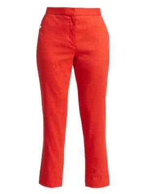 Rag Amp Bone Poppy Linen Blend Crop Trousers