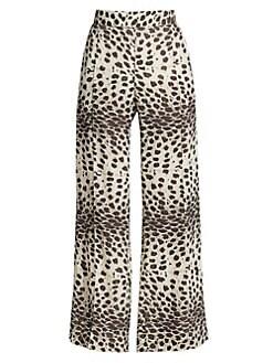 5999dda6f1f21 Sea. Leo Animal Wide-Leg Pull-On Pants