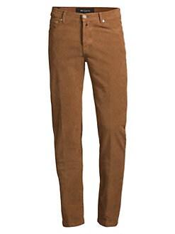 23e2dcd9124 Kiton. Stretch Cotton Straight Courduroy Pants