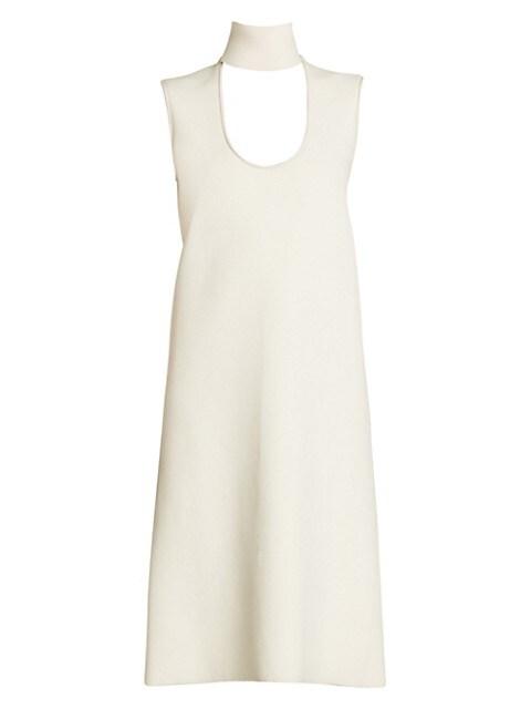 Highneck Cutout Sleeveless Dress