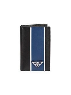 085f8683bc11 Prada. Camoflauge Logo Bifold Leather Wallet