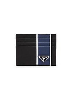 fd0f2faf7988 Prada. Striped Saffiano Leather Card Case