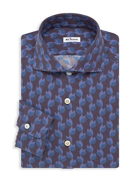 Contemporary-Fit Floral Print Dress Shirt