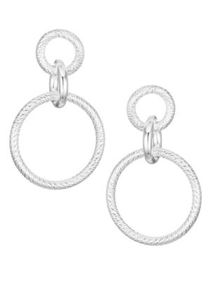 Jennifer Zeuner Jewelry Wes Sterling Silver Circular Drop Earrings