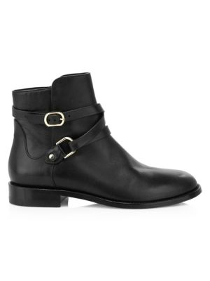 Jimmy Choo Halbert Buckle Leather Ankle Boots