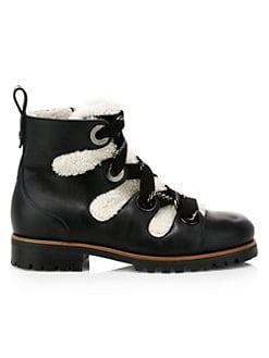 393fedaf0680 QUICK VIEW. Jimmy Choo. Bei Shearling & Leather Hiking Boots