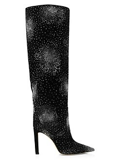 4fd9bb1e711a QUICK VIEW. Jimmy Choo. Mavis Bejeweled Suede Knee-High Boots
