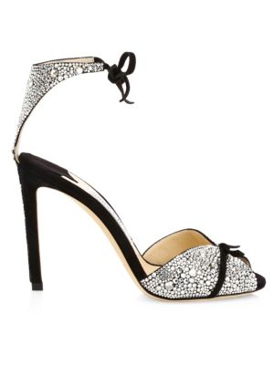 nice cheap factory price outlet boutique Jimmy Choo - Talaya Embellished Leather Sandals - saks.com