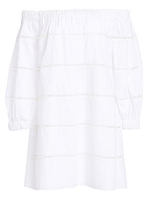 A.l.c Dresses Hartman Cotton Poplin Off-The-Shoulder Dress