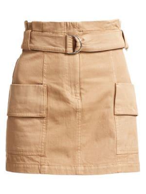 A.l.c Skirts Mia Belted Stretch Cotton Mini Skirt