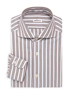 345082a15f Contemporary-Fit Stripe Dress Shirt BROWN. QUICK VIEW. Product image