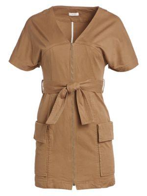 A.l.c Dresses Bellamy Belted Stretch Cotton Dress
