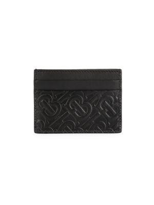 Burberry Sandon Monogram Leather Card Case