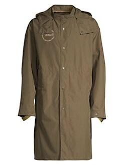 Helmut Lang Nylon hooded jacket