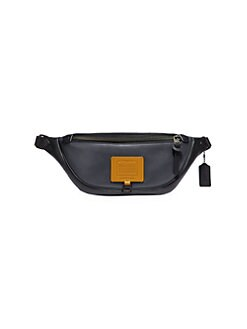 9df8320cda67a7 COACH. Rivington Utility Leather Colorblock Fanny Pack