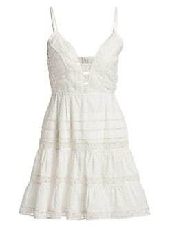 a6da2fdc5f2 QUICK VIEW. Zimmermann. Honour Scallop Lace Short Dress