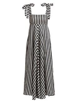 ecf6de7b22dc3a Zimmermann. Honour Sleeveless Linen Chevron Maxi Dress