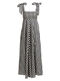 8826c28509 Honour Sleeveless Linen Chevron Maxi Dress STRIPE. QUICK VIEW. Product image