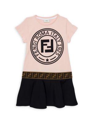 Fendi Little Girl S Girl S Logo T Shirt Dress