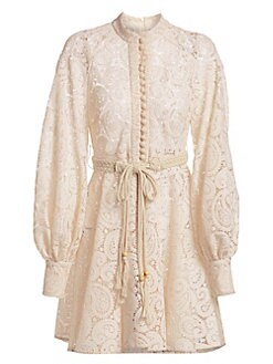 93097a24 Product image. QUICK VIEW. Zimmermann. Amari Paisley Lace Long-Sleeve Dress