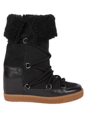 search for best factory authentic huge range of Nowly Shearling-Lined Snow Boots in Black