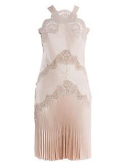 074a1d0847 QUICK VIEW. Fendi. Satin   Lace Halterneck Cocktail Dress